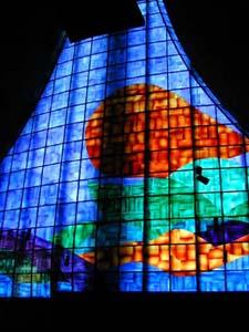 La vetrata interna della Chiesa