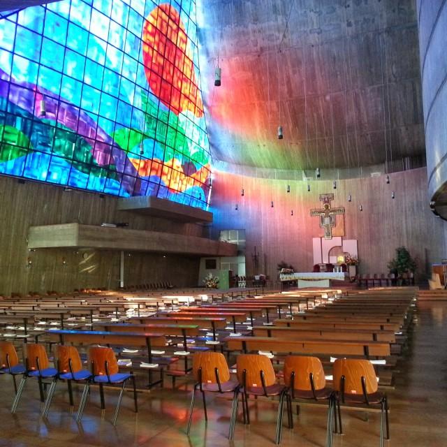 Panoramica sull'interno della Chiesa
