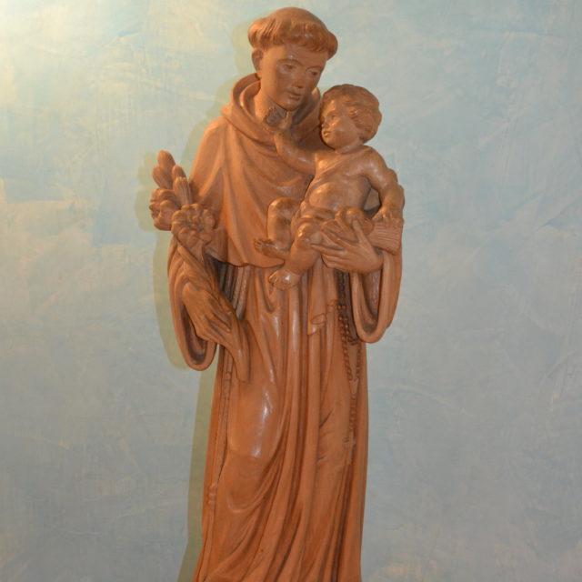 La statua di Sant'Antonio in Cripta
